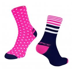 Ponožky Force Spot | růžovo-modré obr.[2]