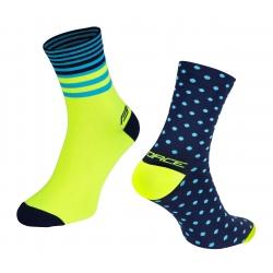 Ponožky Force Spot | modro-fluo obr.[1]