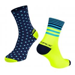 Ponožky Force Spot | modro-fluo obr.[2]