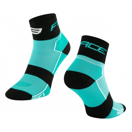 Ponožky Force Sport 3 | tyrkysovo-černé obr.[1]