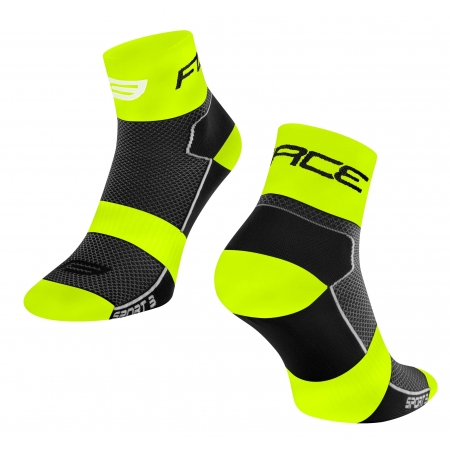 Ponožky Force Sport 3   černo-fluo obr.[1]