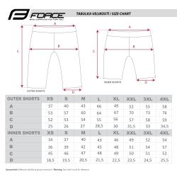 Kraťasy Force MTB-11 s odnímatelnou vložkou | červené obr.[6]