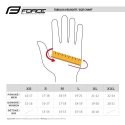 Rukavice Force DARTS gel bez zapínání | fluo-šedé obr.[2]