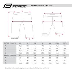 Kraťasy Force STORM s odnímatelnou vložkou | šedo-fluo obr.[5]