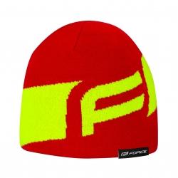 Čepice zimní Force DWARF pletená | červeno-fluo obr.[1]