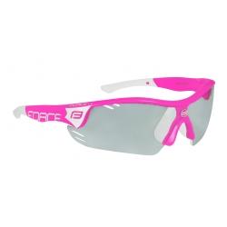 Brýle FORCE RACE PRO | růžovo-bílé | fotochromatická obr.[1]