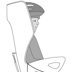 sedačka SUMMER RELAX B-FIX zadní šedo-červená obr.[3]