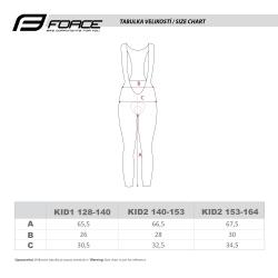 Kalhoty Force REFLEX LINE KID s vložkou | černé obr.[4]
