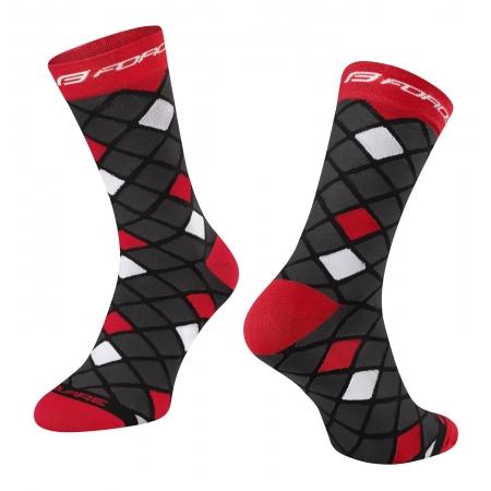 Ponožky FORCE SQUARE | černo-červené obr.[1]