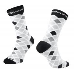 Ponožky FORCE SQUARE | bílo-černé obr.[1]