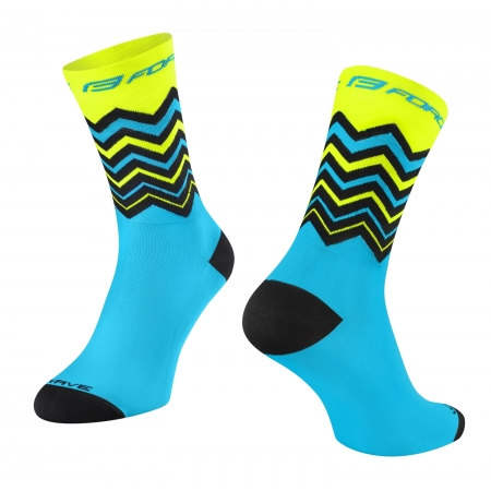 Ponožky FORCE WAVE | fluo-modré obr.[1]