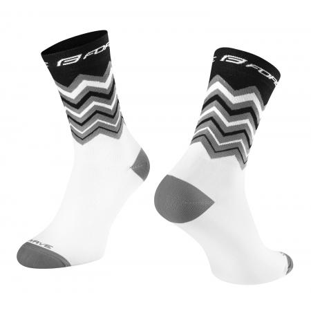 Ponožky FORCE WAVE | černo-bílé obr.[1]