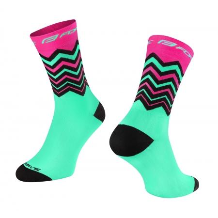 Ponožky FORCE WAVE | růžovo-zelené obr.[1]