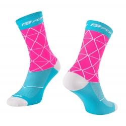 Ponožky FORCE EVOKE | růžovo-modré obr.[1]