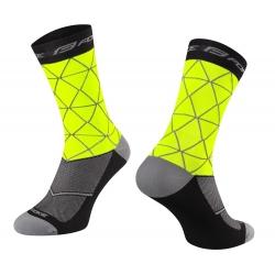 Ponožky FORCE EVOKE | fluo-černé obr.[1]