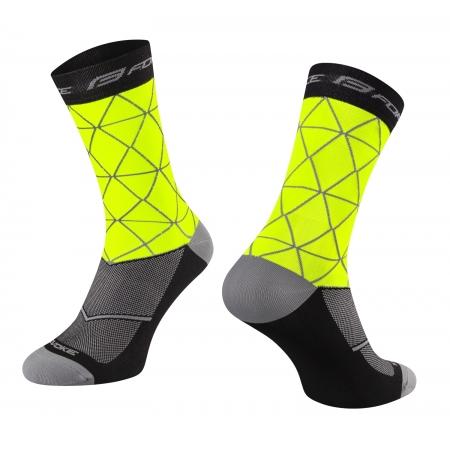 Ponožky FORCE EVOKE   fluo-černé obr.[1]