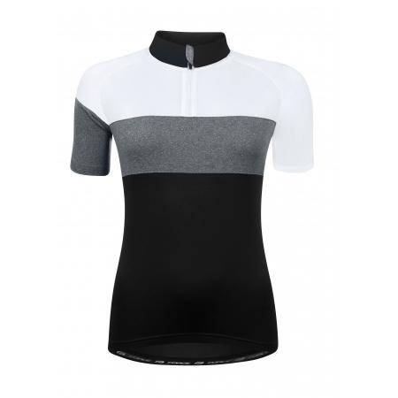 Dres FORCE VIEW LADY krátký rukáv | černo-bílo-šedý obr.[1]