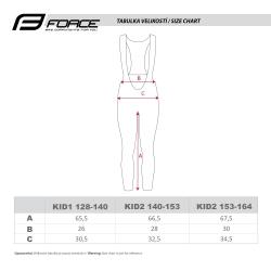 Kalhoty Force REFLEX LINE KID bez vložky | černé obr.[3]