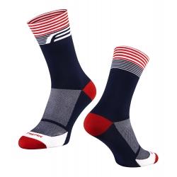 Ponožky FORCE STREAK | modro-červené obr.[1]