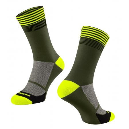 Ponožky FORCE STREAK | zeleno-fluo obr.[1]