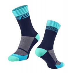 Ponožky FORCE STREAK | modro-tyrkysové obr.[1]