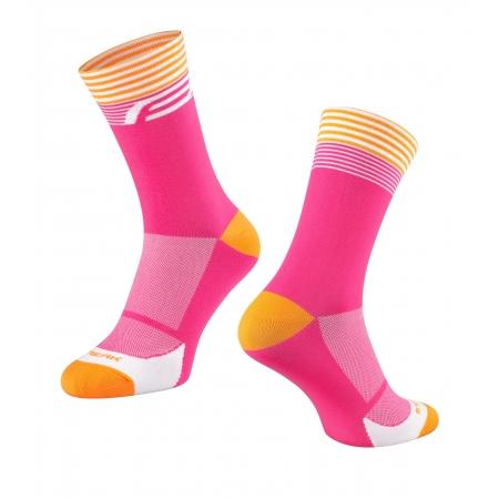 Ponožky FORCE STREAK | růžovo-oranžové obr.[1]