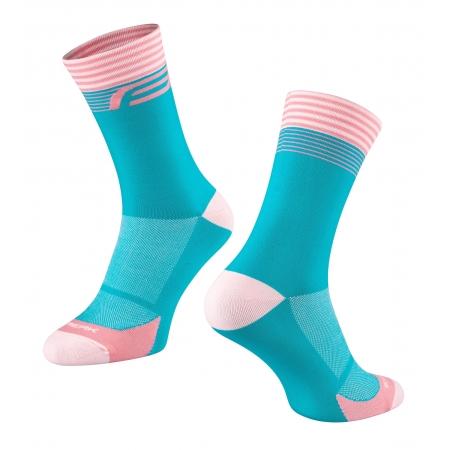 Ponožky FORCE STREAK | modro-růžové obr.[1]