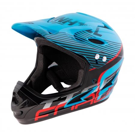 Přilba FORCE TIGER downhill | modro-černo-červené obr.[1]