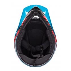 Přilba FORCE TIGER downhill | modro-černo-červené obr.[3]