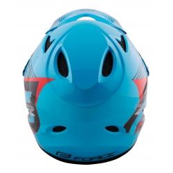 Přilba FORCE TIGER downhill | modro-černo-červené obr.[4]