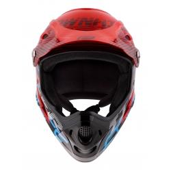 Přilba FORCE TIGER downhill | červeno-černo-modré obr.[2]