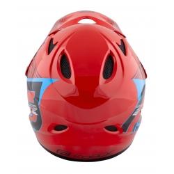 Přilba FORCE TIGER downhill | červeno-černo-modré obr.[3]