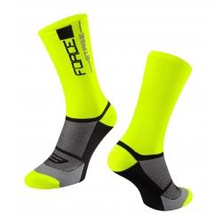 Ponožky FORCE STAGE | fluo-černé obr.[1]