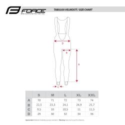 Kalhoty Force BRISK LADY s vložkou | černo-červené obr.[4]