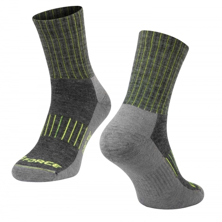 Ponožky FORCE ARCTIC | šedo-fluo obr.[1]