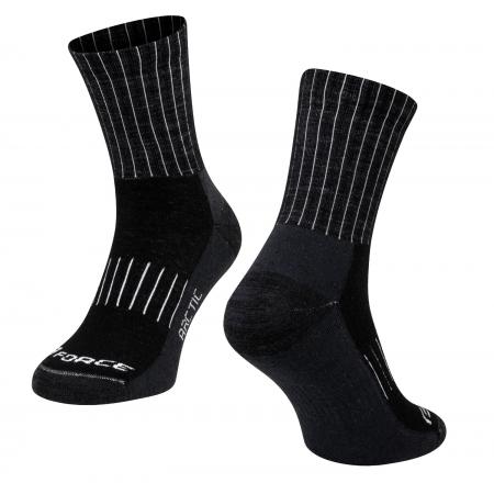 Ponožky FORCE ARCTIC | černo-bílé obr.[1]