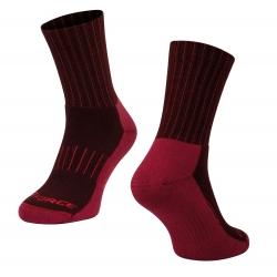 Ponožky FORCE ARCTIC | bordó-červené obr.[1]