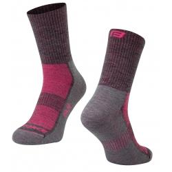Ponožky FORCE POLAR | šedo-růžové obr.[1]