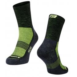 Ponožky FORCE POLAR | černo-fluo obr.[1]