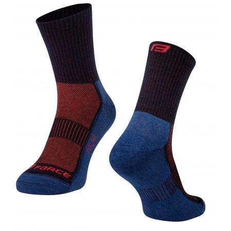 Ponožky FORCE POLAR | modro-červené obr.[1]