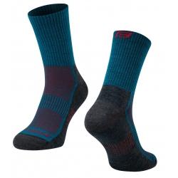 Ponožky FORCE POLAR | tyrkysovo-červené obr.[1]
