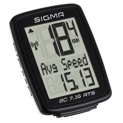 Počítač SIGMA BC 7.16 ATS, 7 funkcí bezdrát   černý obr.[1]