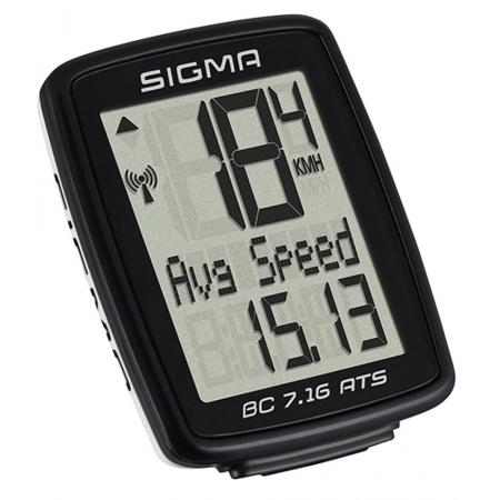 Počítač SIGMA BC 7.16 ATS, 7 funkcí bezdrát | černý obr.[1]