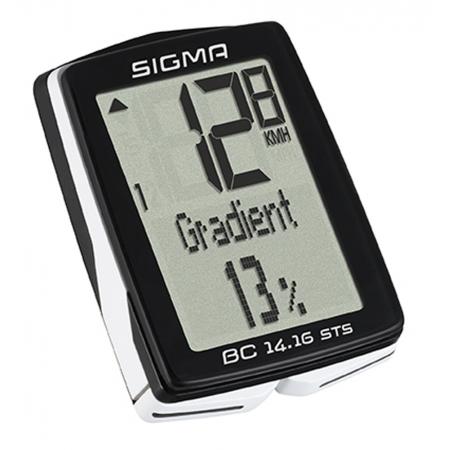 Počítač SIGMA BC 14.16 STS CAD 14funkcí   bezdrát  černý obr.[1]