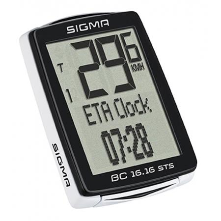 Počítač SIGMA BC 16.16 STS 16 funkcí | černý obr.[1]