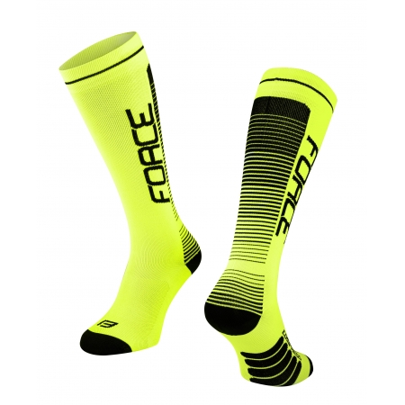 Ponožky Force COMPRESS | fluo-černé obr.[1]