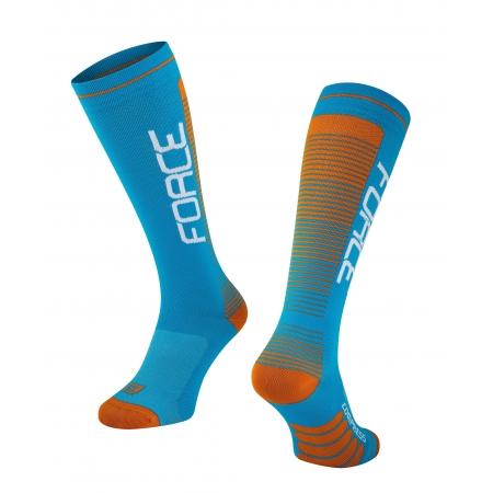 Ponožky Force COMPRESS   modro-oranžové obr.[1]