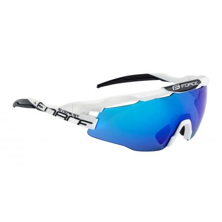 Brýle FORCE EVEREST | bílo-černé | modrá zrcadlová skla obr.[1]
