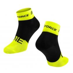 Ponožky Force One | fluo-černé obr.[1]