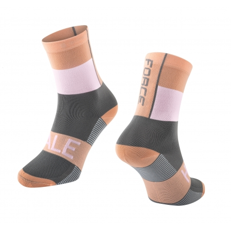 Ponožky Force Hale | oranžovo-bílo-šedé obr.[1]